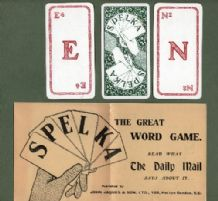 Collectible cards game Spelka by Jaques 1920 Spelling game